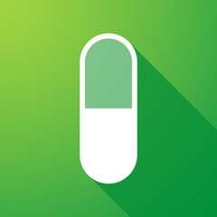 pill  long shadow icon