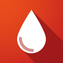blood drop long shadow icon