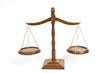 Leinwandbild Motiv Wooden Scales