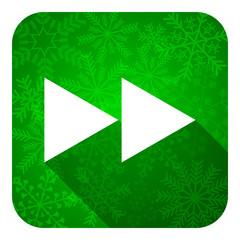 rewind flat icon, christmas button