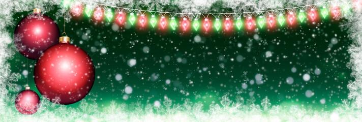 Panoramic Christmas background