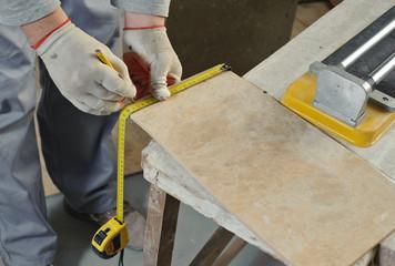 Cutting Ceramic Tiles.