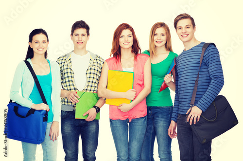 canvas print picture group of smiling students standing