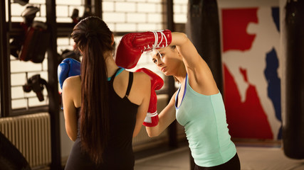Two Females Sparring