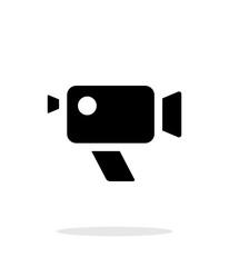 Retro camera simple icon on white background.