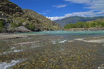 River in Altai mountains, Russia.