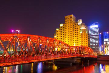 historische Brücke in Shanghai