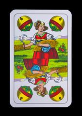 Spielkarten - Schnapskarten Schellen Ass im Sommer