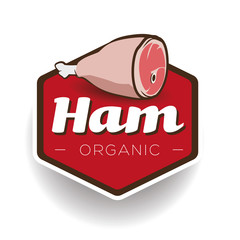 Ham label or badge vector