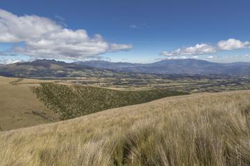 Landscape of Pichincha volcano from the paramo