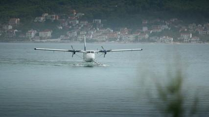 Seaplane landing near Split airport.  Video with sound