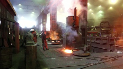 Hard work in the foundry
