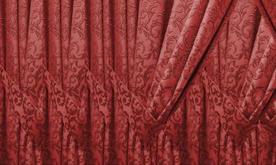 beautiful purple curtain in a classic style