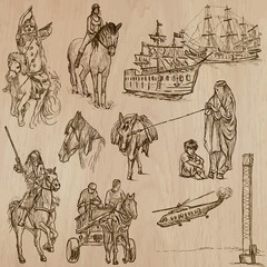 Transport no.10 - Pack of  hand drawn illustrations
