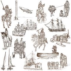 Transport (white set no.5) - an hand drawn illustrations