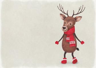 Watercolor illustration of deer