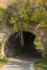 Stone Arch Bridge In Autumn