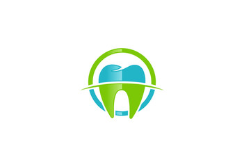 dentist teeth care protection vector logo