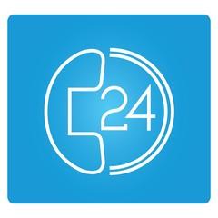 24 hours call service symbol