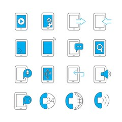 smart phone user interface icons