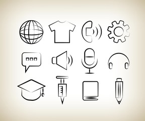 drawing line user interface icons