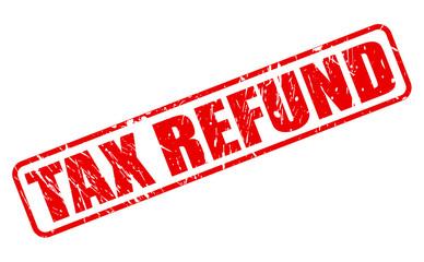 Tax refund red stamp text