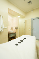 Room for hot stone massage