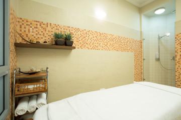Cozy spa room interior