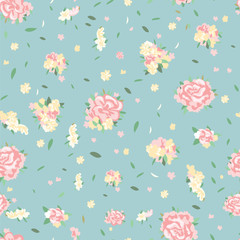 Simple pattern of roses