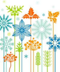Winter flower bed