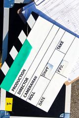 image of Film Slate on set background