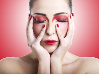 Make-up rosso
