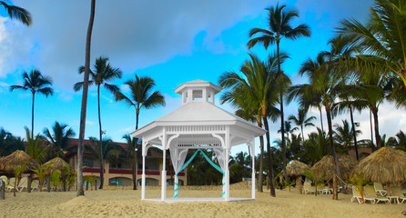 Gazebo on the beach.