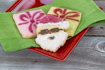 Santa Shaped Cookie for the Holiday