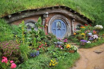 Hobbits hut, Hobbiton, Matamata, New Zealand