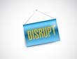 disrupt hanging banner illustration