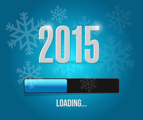 2015 loading year bar illustration