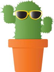 cactus with sunglasses