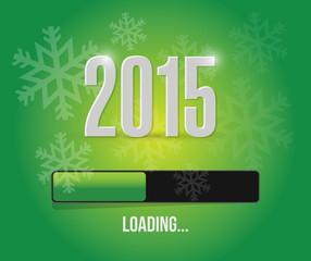 2015 loading year bar illustration