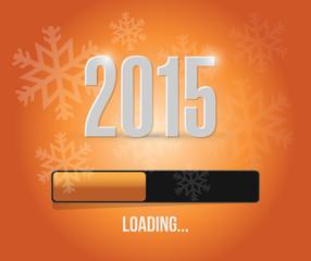 2015 loading year bar illustration design