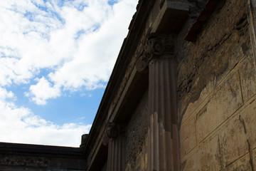 Particular of pompei temple