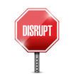 disrupt street sign illustration design