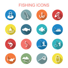 fishing long shadow icons