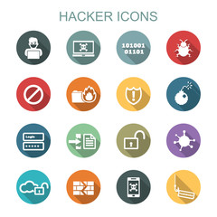 hacker long shadow icons