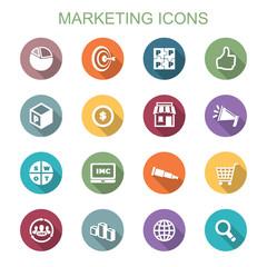 marketing long shadow icons
