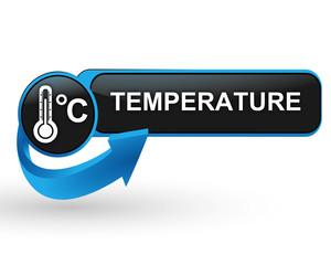température degrés celsius sur bouton web design bleu