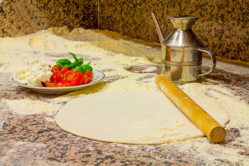 Ingredients for make a pizza
