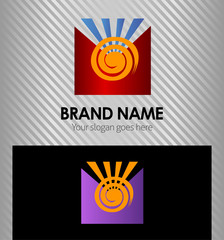 Sun logo design template element