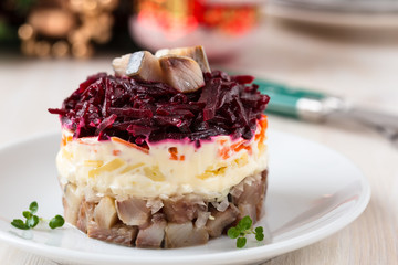 Russian herring salad