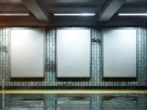 canvas print picture white blank billboard poster indoor